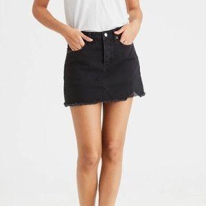 AE | Black Denim Skirt Size 6